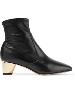 Prism Leather Ankle Boots
