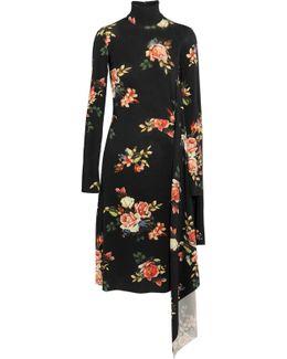 Open-back Floral-print Stretch-jersey Midi Dress