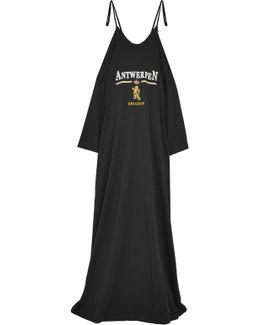Printed Cotton-jersey Maxi Dress