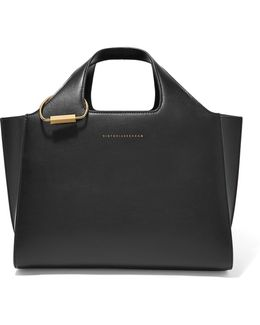Newspaper Small Leather Tote