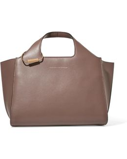 Newspaper Leather Tote