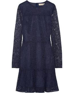 Stretch-corded Lace Mini Dress