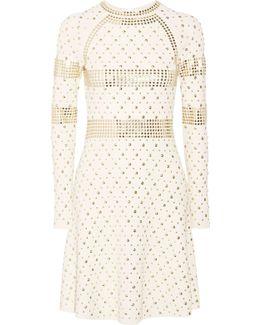 Studded Stretch-knit Dress