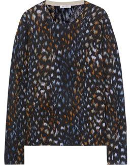 Sloane Leopard-print Cashmere Sweater
