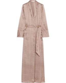 Florian Striped Silk-satin Robe
