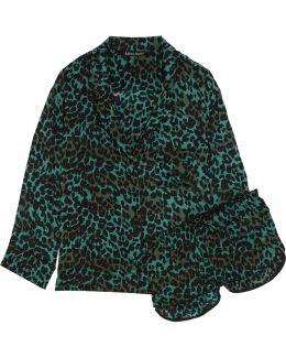 Jude Xl And Audrey H Leopard-print Satin Pajama Set