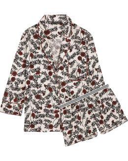 Jude And Edie Floral-print Satin Pajama Set