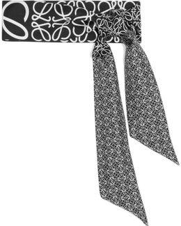 Anagram Printed Silk-twill Scarf