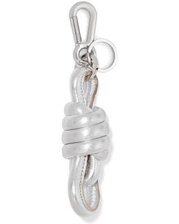 Knot Metallic Leather Keychain