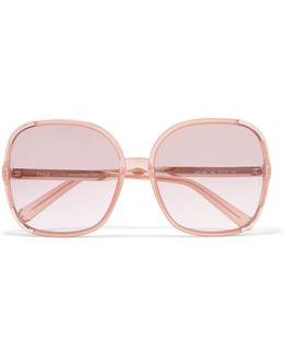 Myrte Square-frame Acetate And Gold-tone Sunglasses