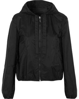 Cropped Shell Hooded Jacket