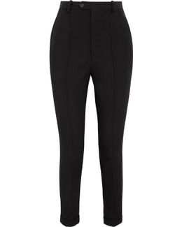 Jo Wool-twill Slim-leg Pants