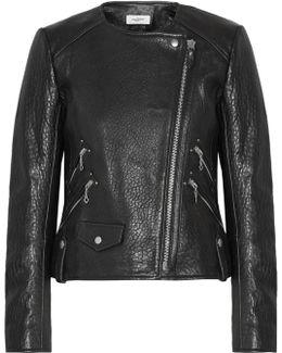 Kankara Textured-leather Jacket