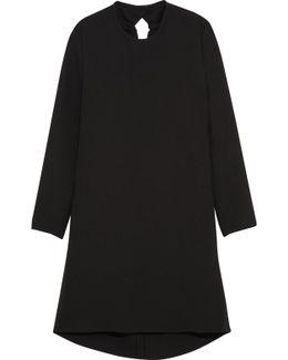 Gathered Cutout Crepe Mini Dress