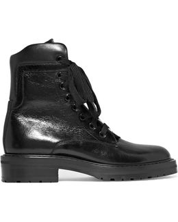 William Glossed-leather Ankle Boots