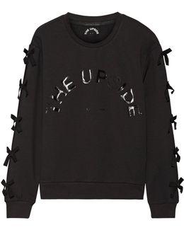 Bowie Bow-embellished Cotton-blend Jersey Sweatshirt