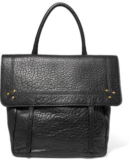 Jeremie Small Textured-leather Tote