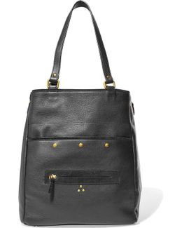 Serge Textured-leather Tote