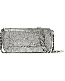 Bob Metallic Textured-leather Shoulder Bag