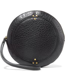 Popoche O Textured-leather Clutch