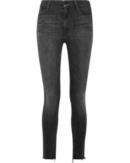 Looker Frayed High-rise Skinny Jeans