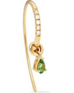 18-karat Gold, Tsavorite And Diamond Earring