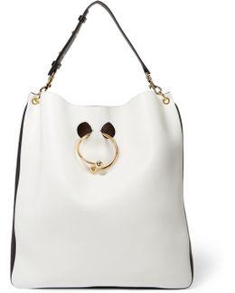 Pierce Two-tone Leather Tote Bag