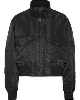 Mcguire Satin-twill Bomber Jacket