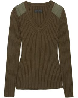 Peyton Ribbed Cotton And Cashmere-blend Sweater