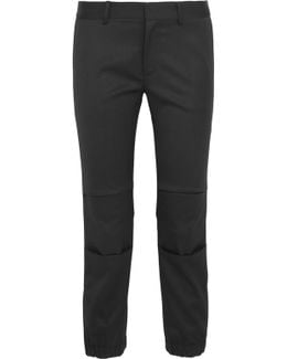 French Military Cropped Stretch-wool Twill Slim-leg Pants