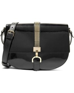 Lien Smooth And Patent-leather Shoulder Bag
