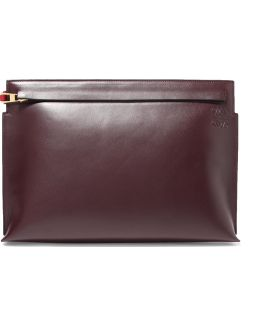 T Two-tone Leather Pouch