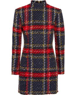 Plaid Tweed Mini Dress