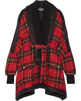 Oversized Tartan Tweed Jacket