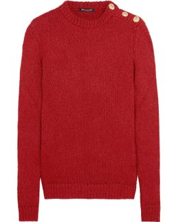 Button-embellished Knitted Sweater