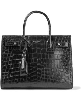 Sac De Jour Baby Embossed Leather Tote