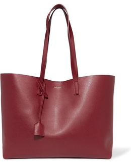 Large Textured-leather Tote Bag