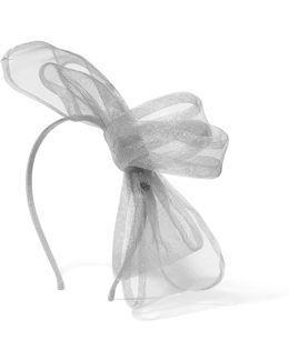 Angie Tulle-trimmed Grosgrain Headband