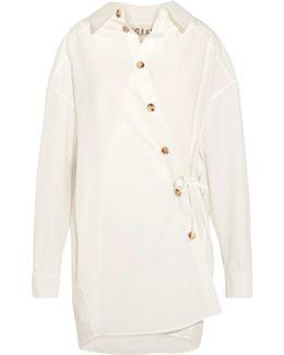 Oversized Cotton-blend Poplin Shirt