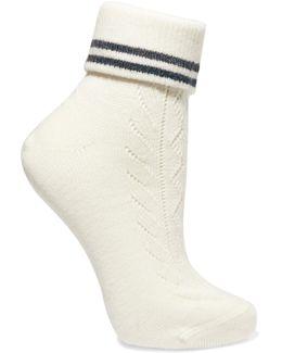Striped Stretch-wool Socks