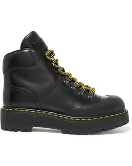 Black Lug Sole Hiking Boots