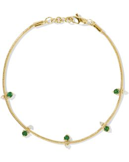 18-karat Gold, Emerald And Diamond Bracelet