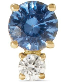 18-karat Gold, Sapphire And Diamond Earring