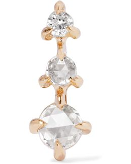 Snow Queen 14-karat Gold Diamond Earring