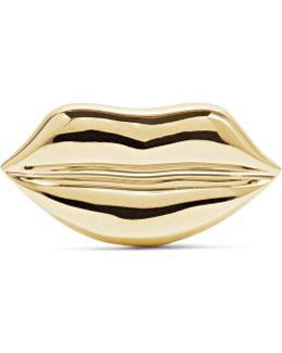 Lip 14-karat Gold Earring