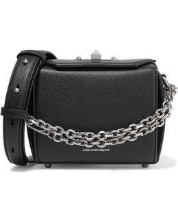 Box Bag Textured-leather Shoulder Bag