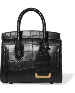 Heroine Small Croc-effect Leather Tote