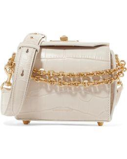 Box Bag 16 Croc-effect Leather Shoulder Bag