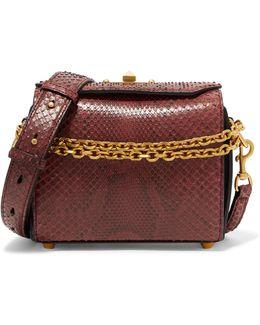 Box Bag Large Python Shoulder Bag