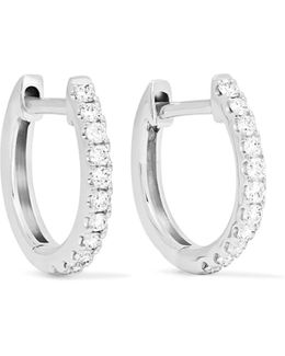 Huggies 18-karat White Gold Diamond Earrings